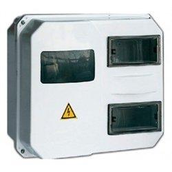 IEK корпус пласт. ЩУРн-П 1/12 (270х330х110) с окошк. (1ф/3ф, 12мод.) din/панель IP55 MSP112-1-55