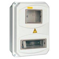 IEK корпус пласт. ЩУРн-П 3/10 (345х270х105) с окошк. (1ф/3ф, 10мод.) din/панель IP55 MSP310-3-55