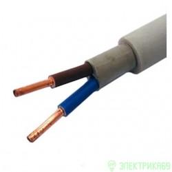 Кабель NYM/NUM 2х1,5 (ГОСТ) (Калужский кабельный завод) силовой медный изоляц. ПВХ+резина+ПВХ 660В