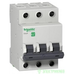Schneider EASY 9 автоматический выкл. 3P 10А 4,5кА х-ка С 230В EZ9F34310