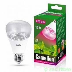 Camelion лампа св/д для растений E27 10W(120°) прозрачная 107x60 LED10-PL/BIO/E27