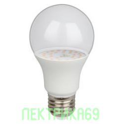 Jazzway лампа св/д для растений ЛОН A60 E27 9W 112x60 прозр. IP20 .5008946