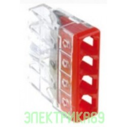 WAGO 2273-204 4х(0,5-2,5мм2) клеммная колодка н/г Cu/Cu 450В