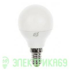 ASD Шар P45 E14 7.5W(600lm) 3000К 2K пластик/алюм