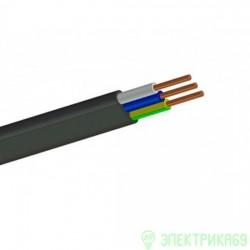 Кабель ВВГ 3х1,5пл  50м! (ГОСТ) (Кабэкс) сил черн медн пл нег пониж газ дв из. ПВХ