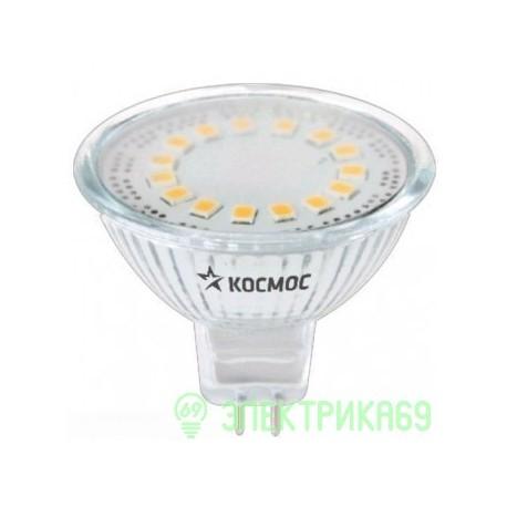 ЭКОНОМКА MR16 GU 5.3 220v 3W 3000K 45x50 матовое стекло Epistar 230 Лм 2K Eco_LED3wJCDRC30_fr