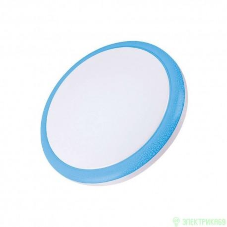Volpe свет-к св/д накладной 24W(1900lm) 4500 пластик, d350mm, IP20 белый/голубой ULI-Q101 24W/NW