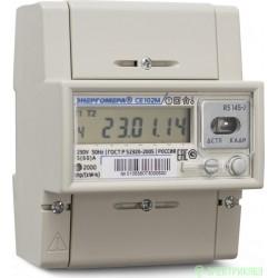 Энергомера CE102M R5 145-J сч.эл/эн 1ф 2т 5(60)А ЖК,оптопорт, на рейку (GMT+3)