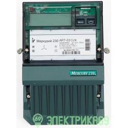 Меркурий 230ART-03 CLN счетчик эл/эн 3ф 2т 5-7,5А, 3*230/400В, кл.т. 0,5S/1,0 (CAN,PLC, ЖКИ, 3 винта