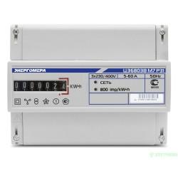 Энергомера ЦЭ6803В/1 Р31 счетчик эл/эн 3ф 1т 220/400В 5(60)А 7-и разр. ЭМОУ для уст. на рейку
