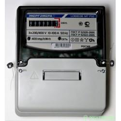 Энергомера ЦЭ6803В/1 Р32 счетчик эл/эн 3ф 1т 230В 10(100)А 7-ми разр.ЭМОУ для уст.на щиток/рейку