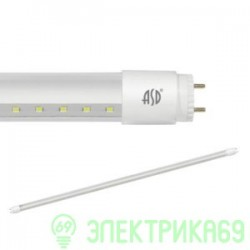 ASD лампа св/д T8-2065П-1200 20W(1620lm) 230V G13 6500К 6K 1200мм прозрачная standart 5841