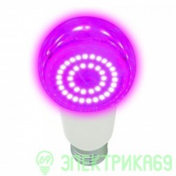 Uniel лампа св/д для рассады и растений A60 E27 14W 16мкм/с прозр. 60x110 LED-A60-14W/SPSB/E27/CL