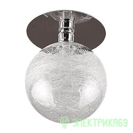"ЭРА DK14 GD/WH св-к встр. 20W 12V G4 ""стеклянный шар с паутиной"" 80x110 прозрач./золото"