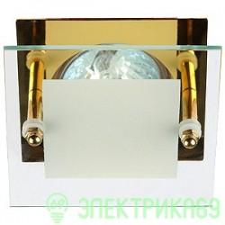 """ЭРА KL16 GD св-к встр. 50W MR16 GU5.3 """"с квадратным стеклом"""" золото 12V/220V"""