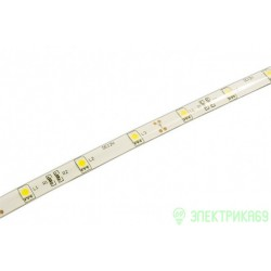 Лента св/д SMD5050, 30LED/м 12V 7.2W/м Теплый белый 5м, IP65 (герметич.) Jazzway 327538