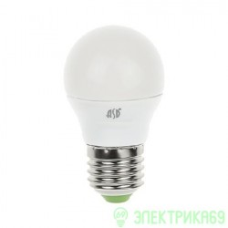 ASD Шар P45 E27 7.5W(600lm) 4000К 4K пластик/алюм
