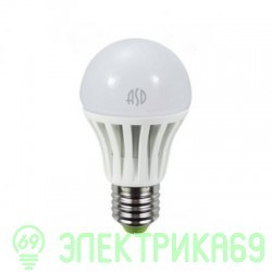 ASD ЛОН A60 E27 15W(1200lm) 4000К 4K 111x62 пластик/алюм
