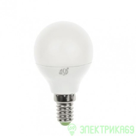 ASD Шар P45 E14 5W(400lm) 3000К 2K пластик/алюм