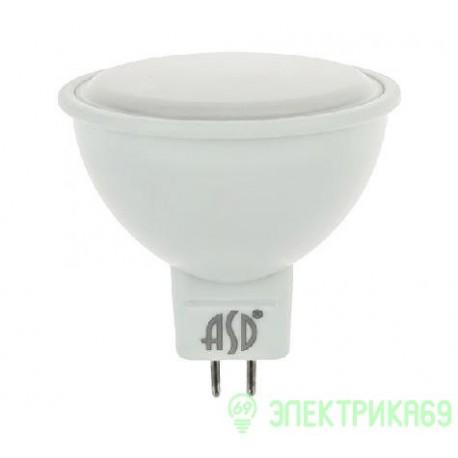 ASD MR16 GU5.3 220V 5.5W(420lm) 3000К 2K 51x50 пластик/алюм