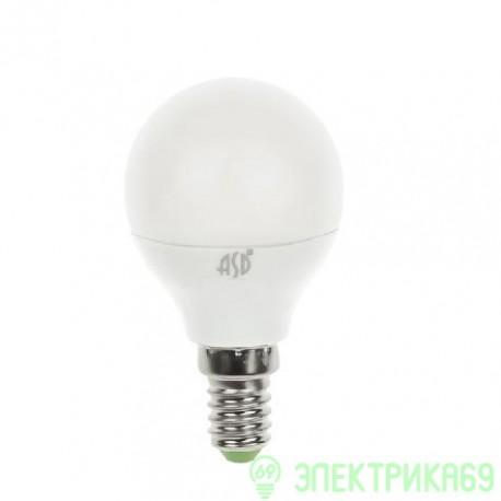 ASD Шар P45 E14 3.5W(300lm) 3000К 2K пластик/алюм