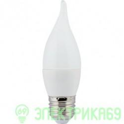 Ecola свеча на ветру E27 7W 2700 2K 120x37 пласт./алюм. Premium C7SW70ELC