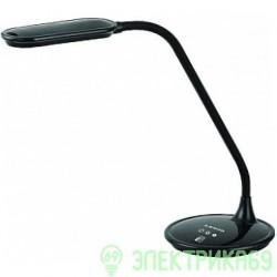 Supra SL-TL301 св-к св/д настольный 5W(300lm) пластик черный, гибкая стойка, сенс., диммир.